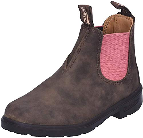 Blundstone Unisex-Kinder Kid's Blunnies Chelsea Boot, Rustic Brown/Pale Pink, 30.5 EU