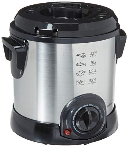 Brentwood DF-701 Electric Deep Fryer, 1-Liter, Stainless Steel