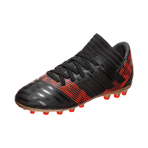Adidas Nemeziz 17.3 AG J, Botas de fútbol Unisex niño, Negro (Negbas/Negbas/Rojsol 000), 38 EU