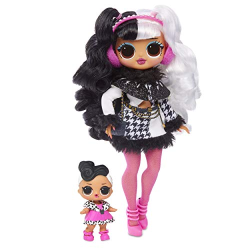 LOL Surprise OMG Winter Disco Series With Exclusive Dollie Fashion Doll And 25 Surprises Including Her Little Sister Dollface, Fashions, Shoes, Purse, Fur Shawl, Ear Muffs And More | Kids Ages 6-10