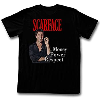 American Classics Scarface Movies M.P.R Adult Short Sleeve T Shirt XXXT Black