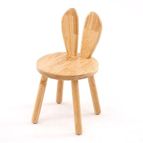 Salle à manger Chaises Chaise d'enfants Dessin animé Mignon Chaise Ronde en Bois Massif Minimaliste Tabouret de Dossier créatif (Color : A)