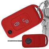 Key Soft Case Cover Capot de Protection clé de Voiture Mercedes Benz Classe SLK W168 R170 Bouton 2 Boutons Pliage télécommande/Couleur: Rouge