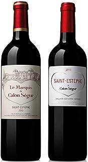 シャトー・カロン・セギュール セカンド&サードワイン 赤 750ml 2本セット フランスボルドー産 ハートラベルのカロン・セギュール ブドウ柄ワイン箱