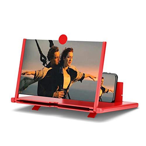 Handy Bildschirm Lupe 12-Zoll Handy Vergrößerungs Bildschirm 3D Telefon Bildschirmverstärker HD Strahlenschutz Handy-Lupe Bildschirmlupe Ständer Für Alle Smartphone
