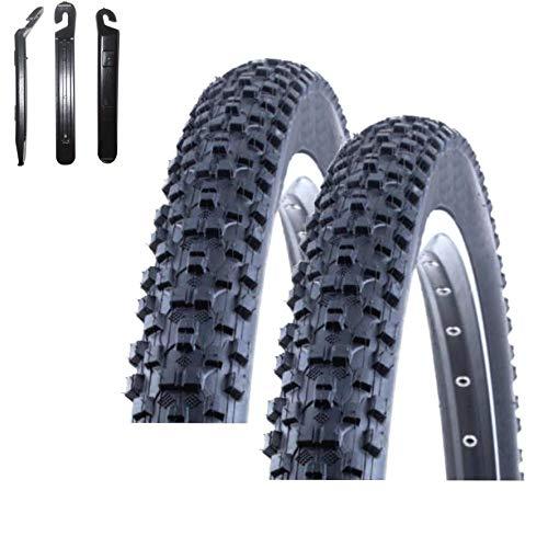 maxxi4you Angebots - Set 2 x Kenda Kadre K-1027 MTB Fahrradmantel Fahrradreifen Schwarz 54-622 (29 x 2,10) inkl. 3 Reifenheber