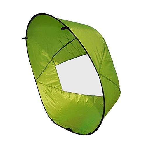 Vela De Viento para Kayak con Ventana Transparente, Barco De Remo De Pesca Plegable De 42 Pulgadas, Vela De Sotavento, Accesorios para Canoa De Bote Inflable Verde