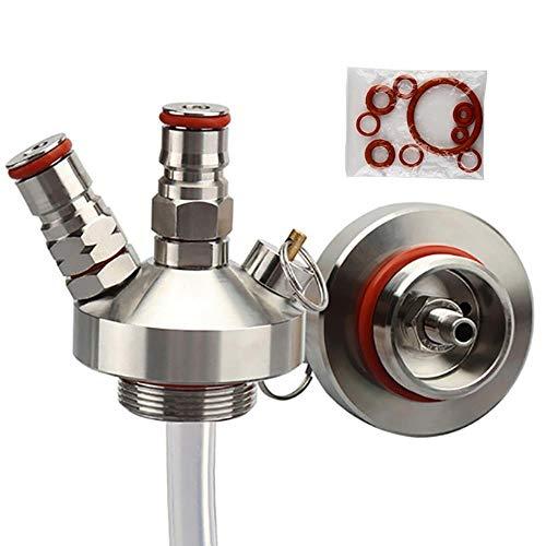 KOIYOI Edelstahl 3.6L / 5L / 10L Mini Fass Zapfhahn Dispenser Mit 12 '' Bier Schlauch Für Mini Craft Beer Fass Growler Homebrew Spear
