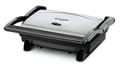 Cuisinart GR-1FR Cuisinart GR-1 Griddler Panini and Sandwich Press (Renewed), Stainless Steel