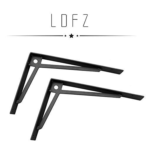 Shelf support LDFZ drager voor zware lasten plankdrager 5 mm dikke drijvende plankhouder 90 ° wandmontage plank klemmen DIY open plankhouder (zwart)