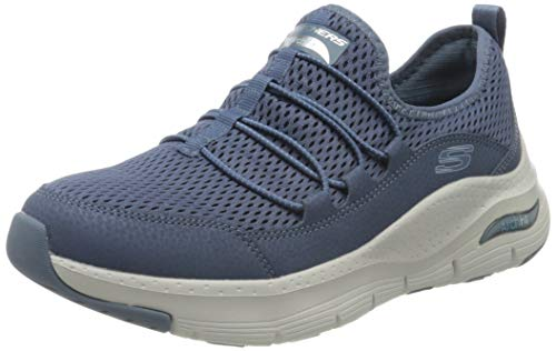 Skechers Arch Fit Lucky Thoughts, Zapatillas Mujer, Azul (Navy Mesh/Trim Nvy), 38 EU