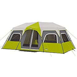 e8c4670775 This cabin tent from Core can easily fit up to 12 people on 3 queen airbeds  or in 12 sleeping bags. You can take the whole family and all pets camping  and ...