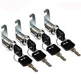 4 serrature per armadietto + 8 chiavi universali, serratura a cilindro Adatto per cassetta postale, cassetto, armadietto, armadio e così via, 4 Modelli Da Scegliere,16mm