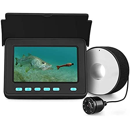 for Ice Eyoyo Underwater Fishing Camera Upgraded 720P Camera w// 12 IR Lights 1024x600 IPS 7 inch Screen Boat Ice Fishing Camera Portable Video Fish Finder Lake Sea Fishing 30m+DVR