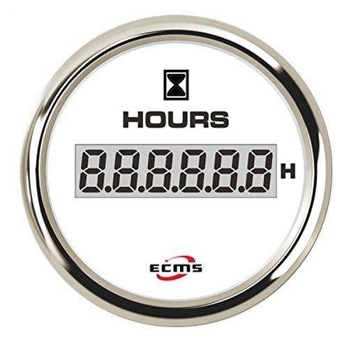 lplPOL Echtzeit 52mm Chronograph LCD Hourmeter Gauge Mehrere Hintergrundbeleuchtung for Auto Motorrad kompatibel