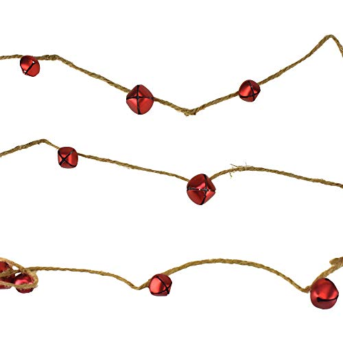 Homeford Christmas Jingle Bells Garland, 6-Feet