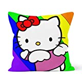Funda de cojín, diseño de Hello Kitty,Home Dormitorio, cojín decorativo, tamaño 45 x 45 cm