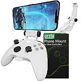 Clip de juego móvil para mando Xbox Series X, soporte de teléfono ajustable para mando de Xbox compatible con Xbox Series X|S, Xbox One, Xbox One S, Xbox One X-Robot, color blanco
