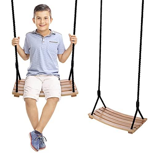 Wooden Swing ,arc Shaped Waterproof Swing,Swing seat Wooden ,Garden, Yard, Indoor , Outdoor Wooden...