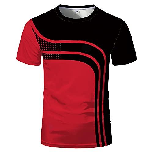Deportiva Camisa Hombre Verano Clásica Moda Cuello Redondo Empalme Hombre Camiseta Moderno Urbano Básico Elástico Hombre Shirt Diarios Sport Transpirable Hombre Manga Corta