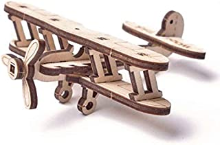 Wood Trick ウッドトリック ウディックシリーズ ミニ飛行機 動かして遊べる3Dウッドパズル/ 木製模型