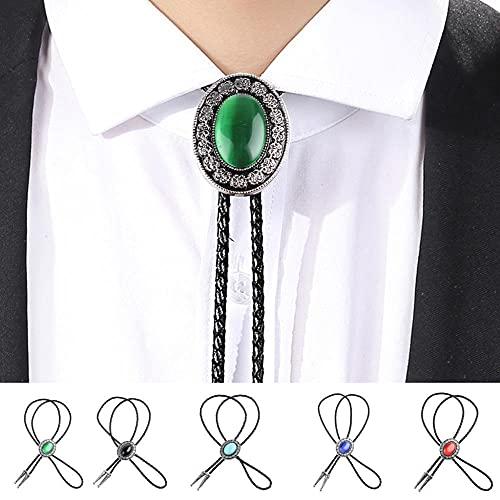 HQYYDS Corbata bolo Occidental Vaquero bolo Corbata Collar Colgante joyería de los Hombres Corbata bolo para (Color : D, Size : 1)