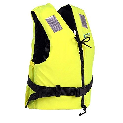 Leader International Schwimmhilfe Erwachsene ISO 12402 CE-Kennzeichnung, Festtoffweste ideal für den Wassersport, Auftriebshilfe bis zu 40N(Gelb S: 30-50kg)