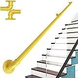 ZCFXGHH Varilla de Soporte para Subir y Bajar Escaleras - Kit de Pasamanos de 30~600cm, Pasamanos de Seguridad para Áticos Interiores para Ancianos y Niños |,Amarillo,15ft/450cm