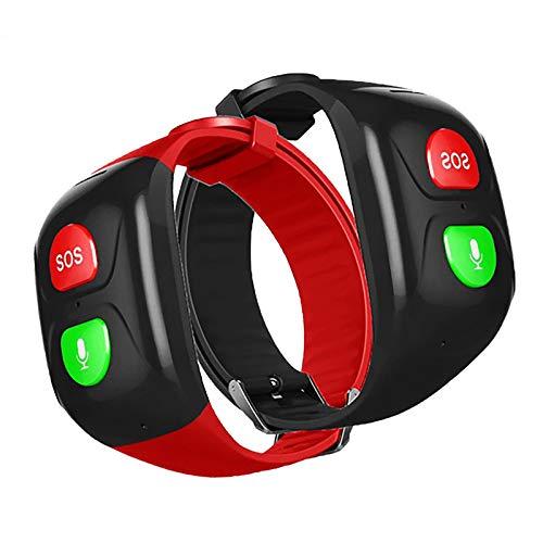 2 Piezas Pulsera Inteligente Gps Reloj De Seguimiento GPS Para Ancianos Pulsera De Ayuda De Emergencia Chat De Voz SOS Monitorización De Frecuencia Cardíaca Y Presión Arterial De Emergencia Cuidado