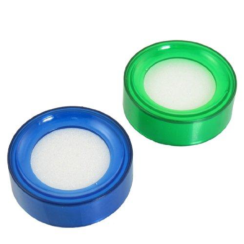 Humectante de yemas de dedos para contar dinero, 2 unidades, color verde y azul