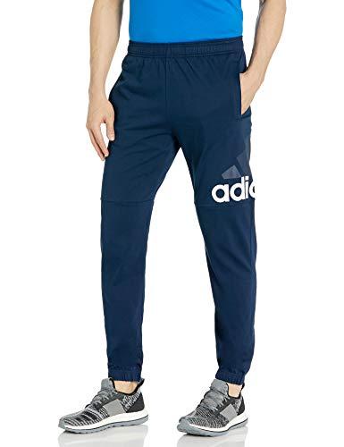 adidas Men's Essentials Performance Logo Pants, Collegiate Navy/White, Medium
