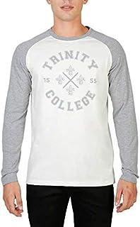 Oxford University Men's TRINITY-RAGLAN-ML T-shirt Grey