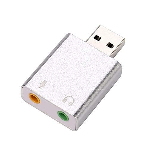 LIJIANZI Worth having - USB Adaptador de audio, tarjeta de sonido estéreo externo con conector de auriculares y micrófono de 3.5 mm para Windows y Mac, Plug and Play No se necesita controladores