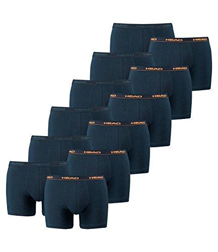Head–Herren-Boxershort Basic, 12er-Pack, Herren, Peacoat/Orange/Navy, XL = Gr. 7 = 12 Stück