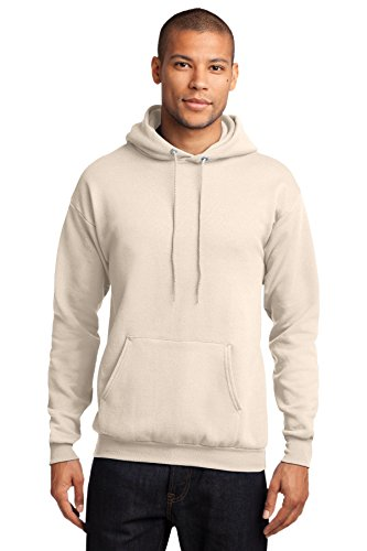 Port & Company Men's Classic Pullover Hooded Sweatshirt M Natural