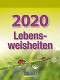 Lebensweisheiten - Kalender 2020 - Korsch-Verlag - Tagesabreisskalender mit Weisheiten für jeden Tag - 12 cm x 16 cm