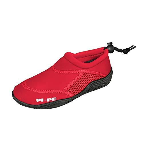 PI-PE Badeschuhe Active Aqua Shoes Escarpines de baño, Infantil, Rojo, 25 EU