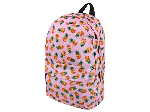 Rucksack All Over Print Look Kinder Schulrucksack Freizeit Tasche von Alsino, Variante wählen:Ruck-a029 Ananas