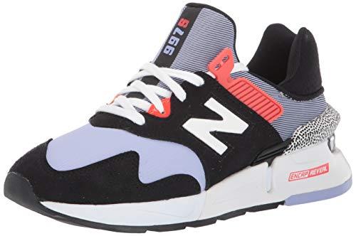 New Balance Zapatillas deportivas para mujer 997 Sport V1, negro (Negro y amatista transparente.), 35 EU