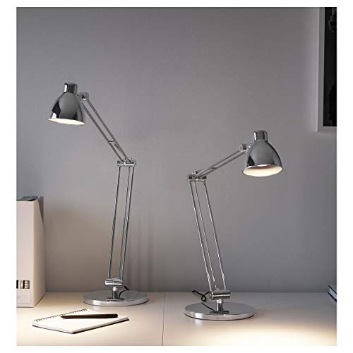 IKEA ANTIFONI lampa robocza niklowana