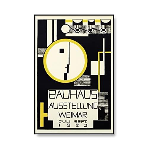 Bauhaus exhibe carteles geométricos únicos, arte minimalista, pinturas murales abstractas, pinturas en lienzo sin marco A3 50x70cm