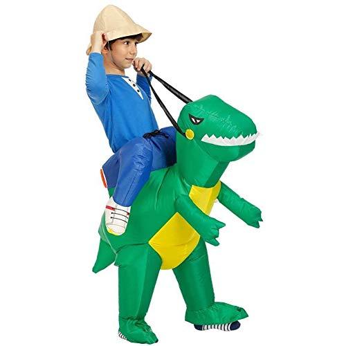 SUNY Disfraz Dinosaurio Inflable Traje Dinosaurio Adulto/niño Vestido de Fiesta Hombres Mujeres...