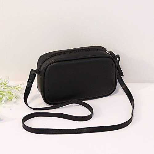 Bolso De Mujer Pequeño Bolso Cuadrado Bandolera Bandolera 13*7*21cm negro