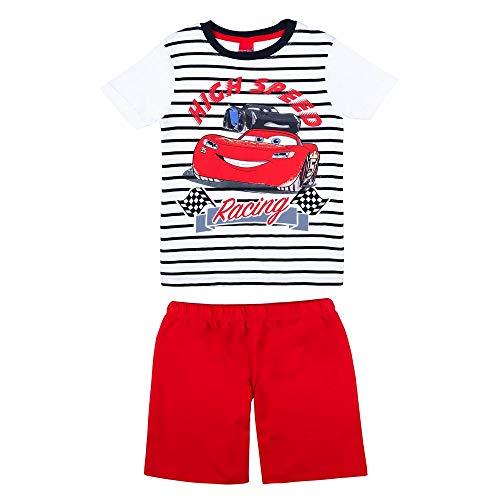 Disney jongens Cars slaappak, T-shirt, shorts, korte broek, rood