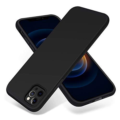 Eiselen Hülle Kompatibel mit iPhone 12/12 Pro, Schwarz Schutzschicht Stoßfest, Weiche Handyhülle Silicone Hülle Kompatibel mit iPhone 12/12 Pro