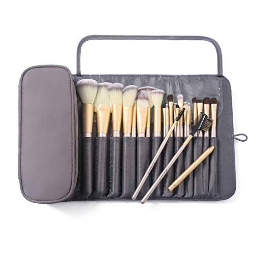 N-B Bolsa de Maquillaje Bolsa de Cepillo cosmético para Mujer Organizador de Viaje Brochas de Maquillaje Herramientas Plegables Bolsas con Ruedas Estuche de Maquillaje de Nailon Impermeable