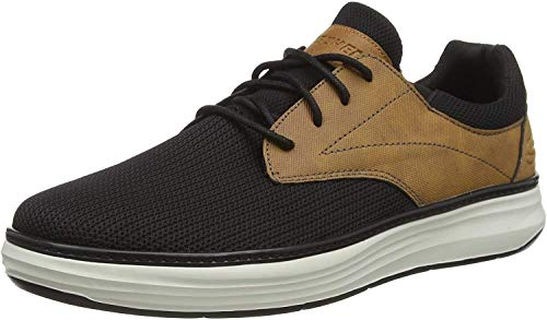Skechers Herren Moreno Sneaker, Schwarz (Black Natural Mesh Bknt), 43 EU