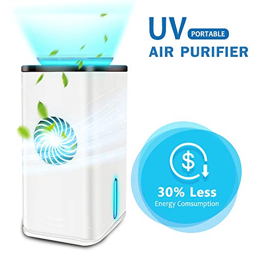 Buy Bargain Wooyo Air Purifier UV-C Sanitizer Cleans Air, True HEPA Filter with Smart Touch Screen, ...