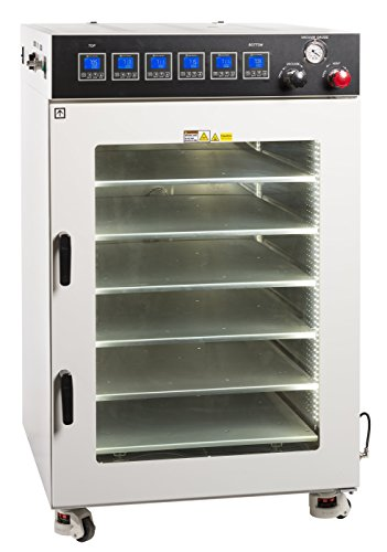 """Across International AT160.110 Ai Accutemp Vacuum Purging Oven with 6 Heated Shelves, 25.5"""" x 30.5"""" x 35.5"""" Chamber, 250 Degree F, 110V, 50/60 Hz, 1500W"""