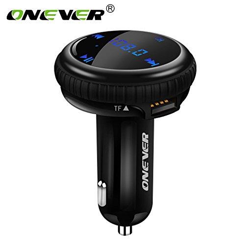 Onever Bt69 Bluetooth Car Kit, GPS de voiture Finder, 4.2 Bluetooth sans fil Transmetteur FM Modulateur FM, U disque TF carte 2 ports USB 2 ans de garantie